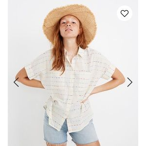 Madewell Courier Shirt in Flecked Rainbow Stripe